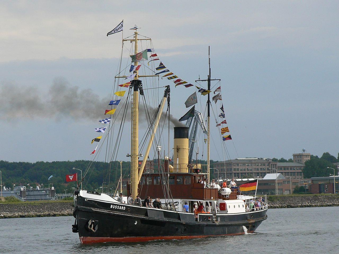 Bild Dampfschiff Bussard Kiel
