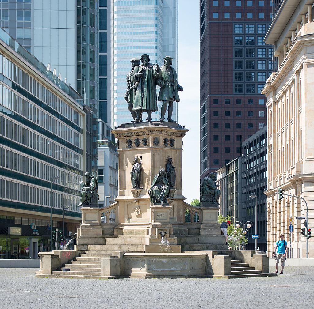 Bild Gutenberg Denkmal Frankfurt am Main