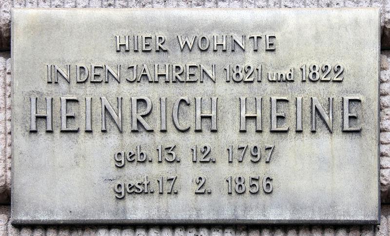 Bild Heinrich Heine Gedenktafel Berlin