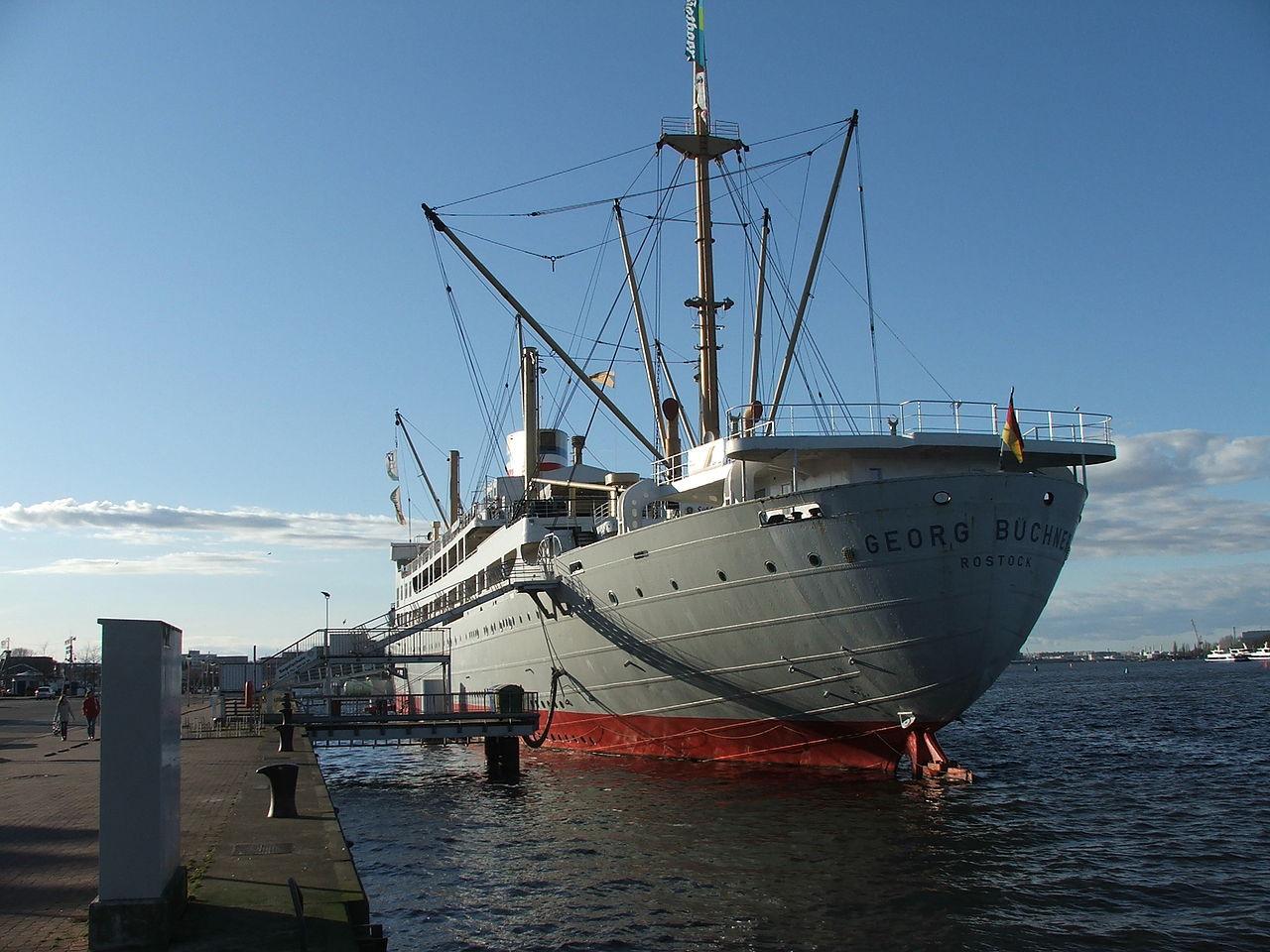 """Bild Jugendgästeschiff  MS """"Georg Büchner"""" in memoriam"""