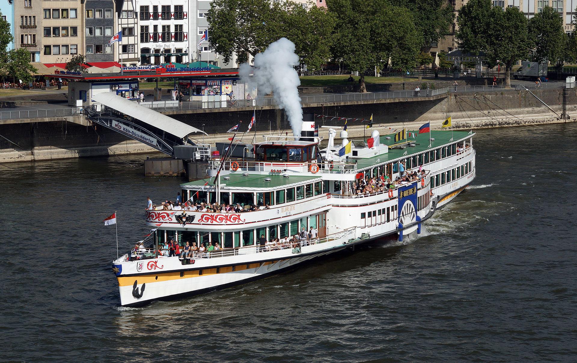 Bild Schaufelraddampfer Goethe Koblenz