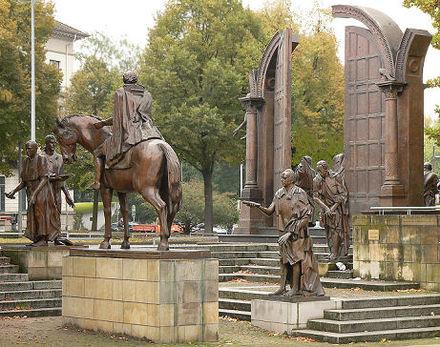 Bild Bronzeskulptur Göttinger Sieben Hannover