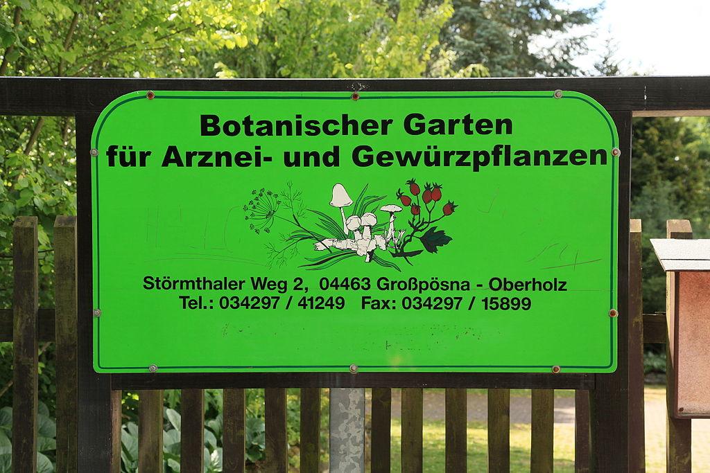 Bild Botanischer Garten für Arznei- und Gewürzpflanzen Großpösna