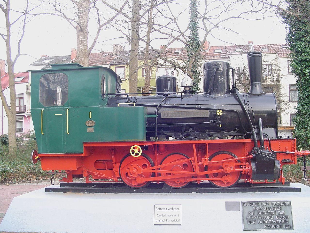 Bild Dampflok Bremen Findorff