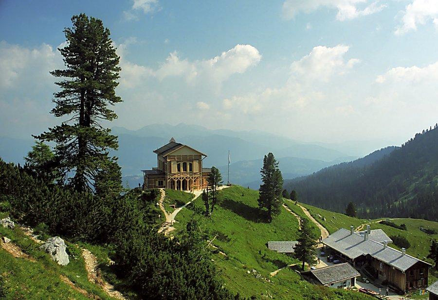 Bild Königshaus am Schachen Garmisch Partenkirchen mit Alpengarten