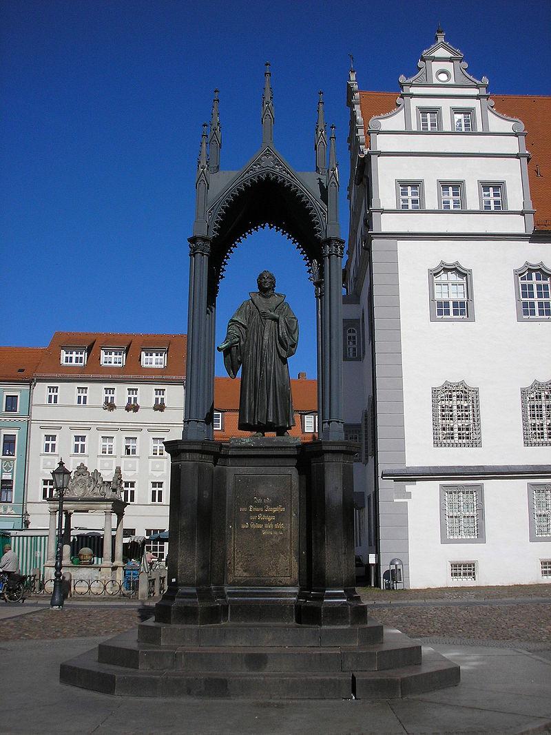 Bild Melanchthon Denkmal Wittenberg