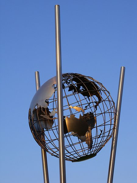 Bild Mercator Globus im Innenhafen Duisburg