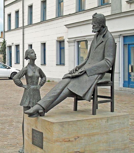Bild Nietzsche Denkmal Naumburg