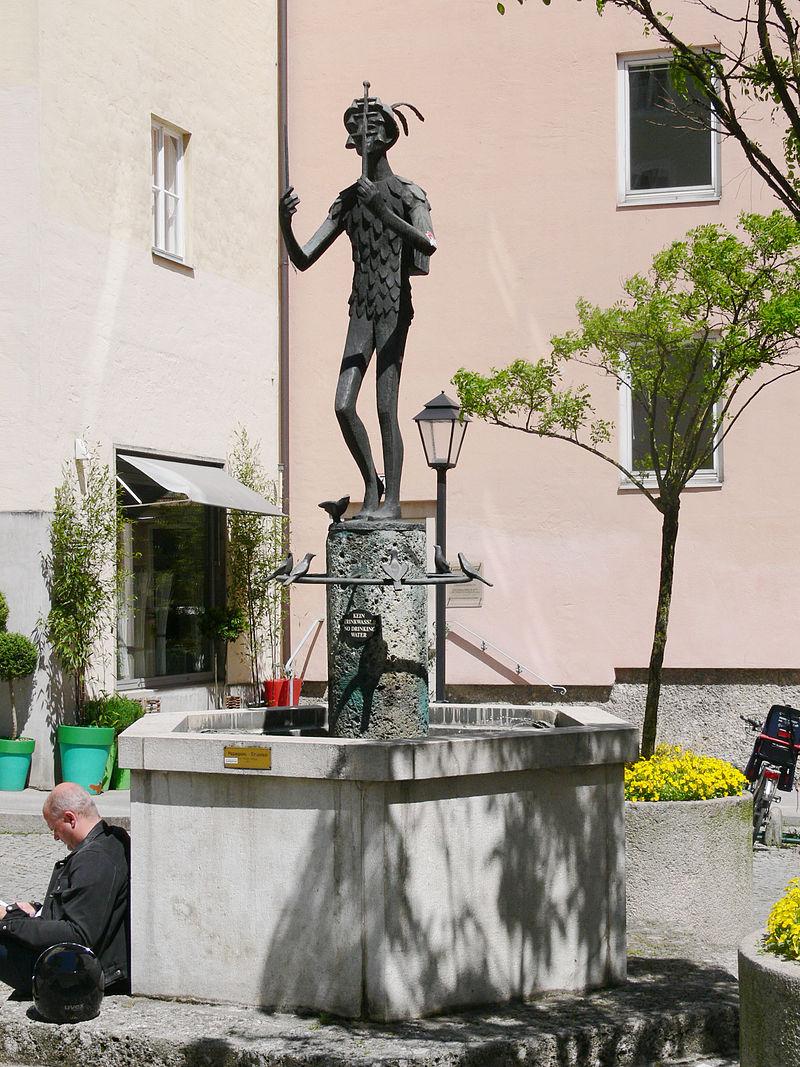 Bild Papageno Brunnen Salzburg