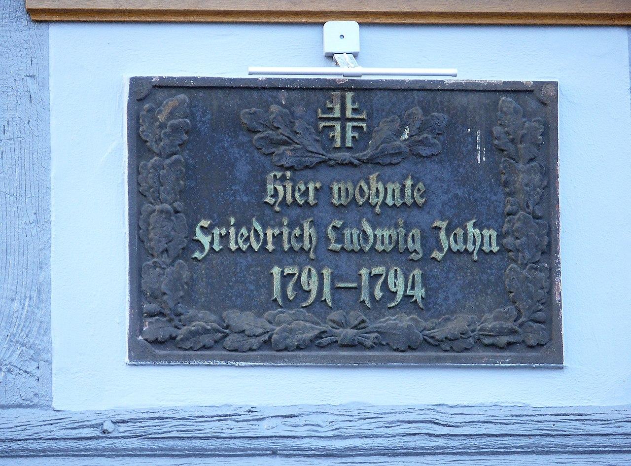 Bild Friedrich Ludwig Jahn Gedenktafel Salzwedel
