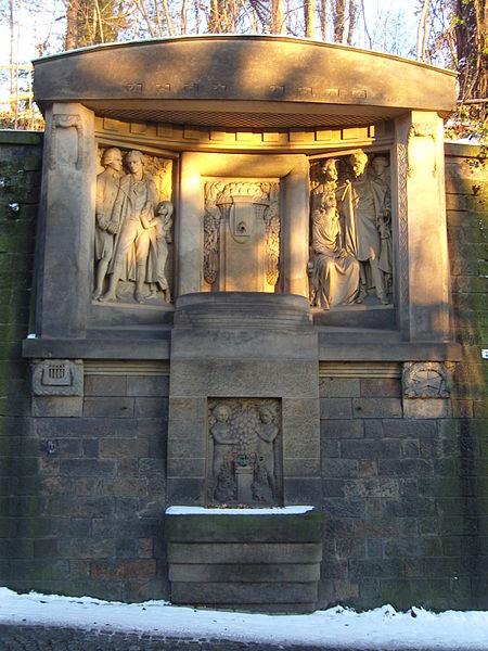 Bild Schiller Körner Denkmal Dresden