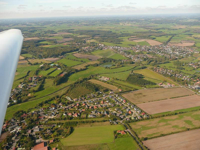 Bild Segelfliegen über Schleswig Holstein