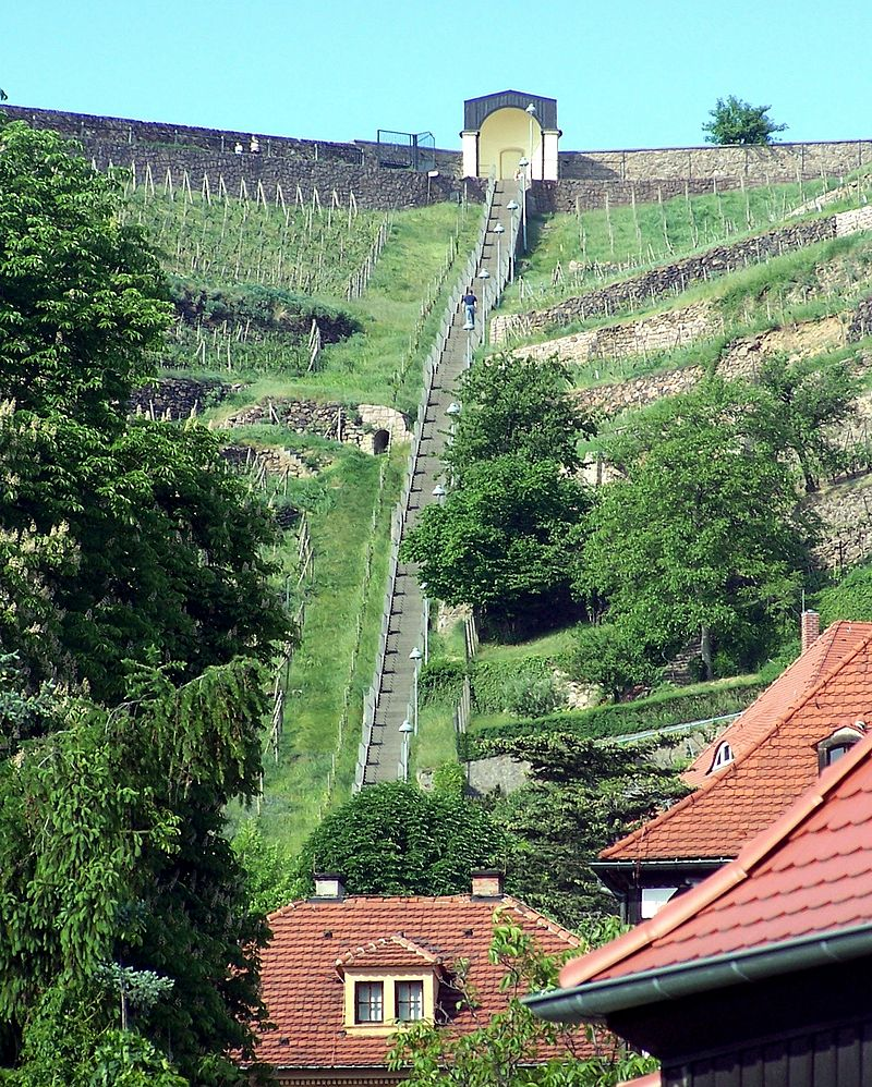 Bild Spitzhaustreppe Radebeul