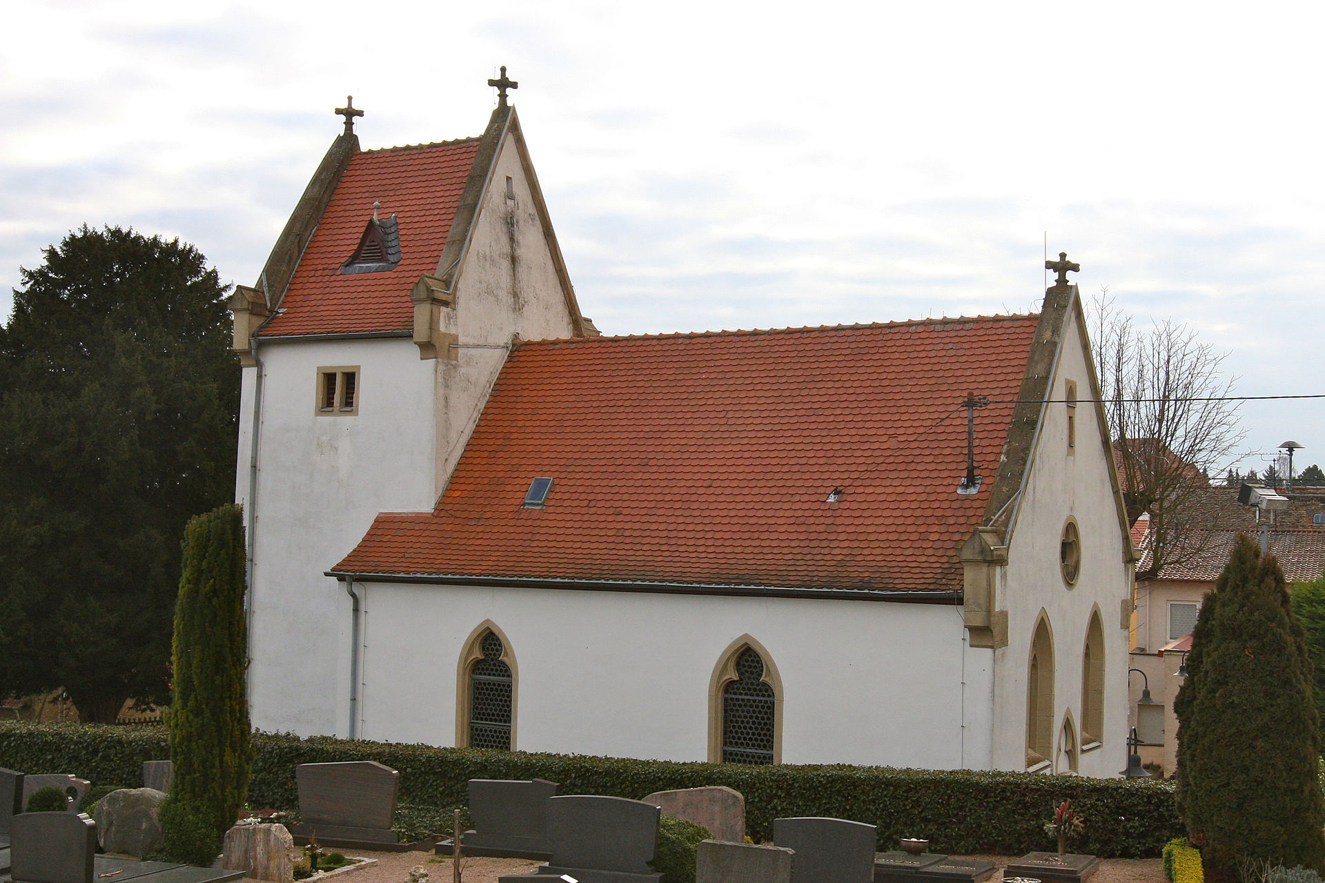 Bild Kirche St. Martinus Bermersheim von der Höhe