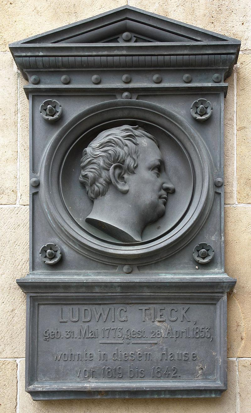 Bild Gedenktafel Ludwig Tieck Dresden