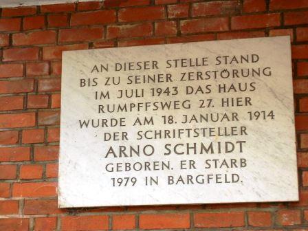 Bild Arno Schmidt Geburtshaus Hamburg