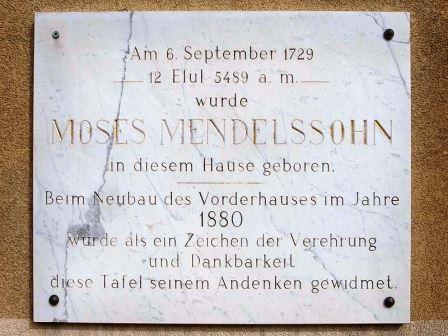 Bild Mendelssohn Geburtshaus Dessau