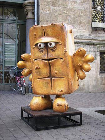 Bild Bernd das Brot Denkmal Erfurt