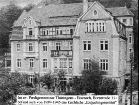 Bild Entjudungsinstitut Eisenach
