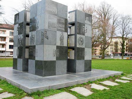 Bild Reuchlin Denkmal im Stadtgarten Pforzheim