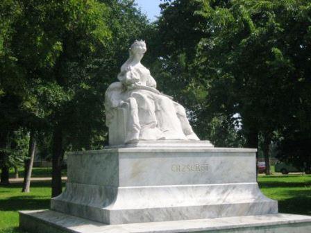 Bild Elisabeth Denkmal Budapest