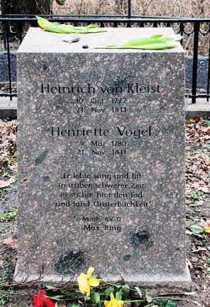 Bild Kleist Grab am kleinen Wannsee Berlin