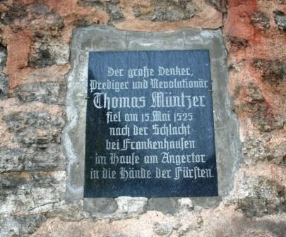 Bild Gedenktafel am Angertor Bad Frankenhausen