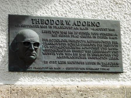 Bild Theodor W. Adornos Wohnhaus Frankfurt am Main