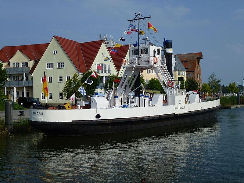 """Bild Eisenbahndampffährschiff """"Stralsund"""" Wolgast"""