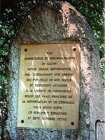 Bild Servetus Gedenkstein Genf