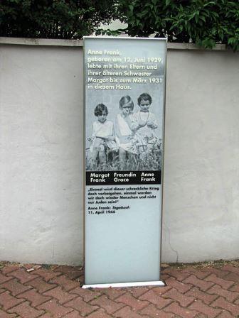 Bild Gedenkstele für Anne Frank Frankfurt am Main