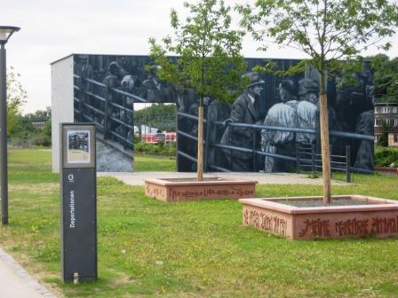 Bild Deportationsmahnmal Schlachthoframpe Wiesbaden