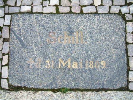 Bild Schill Gedenkplatte Stralsund