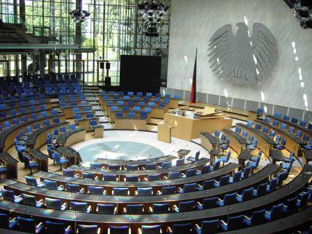 Bild Plenarsaal Deutscher Bundestag Bonn