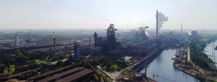 Bild Werkshafen der Hüttenwerke Krupp Mannesmann (HKM) Duisburg