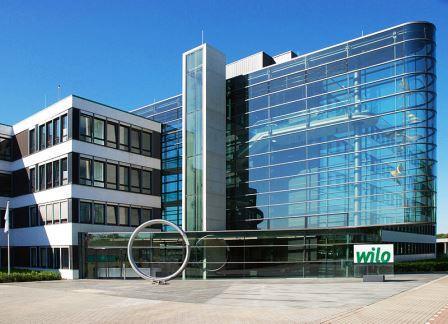 Bild Neuer Haupteingang WILO AG Dortmund