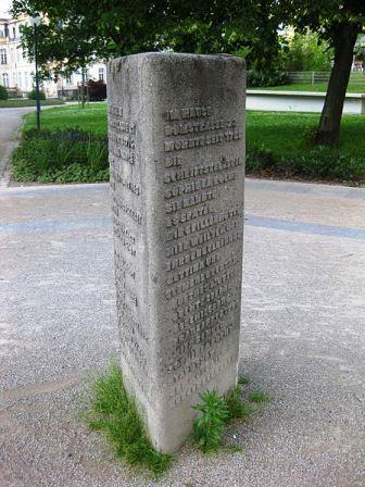 Bild Sophie von La Roche Stele Offenbach am Main