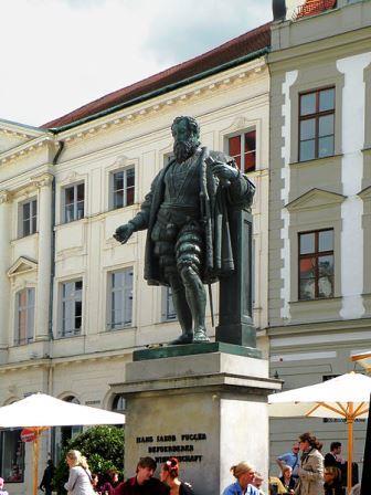 Bild Fugger Denkmal Augsburg