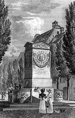 Bild Dürer Pirckheimer Brunnen Nürnberg