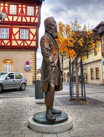 Bild Adam Ries Denkmal Staffelstein