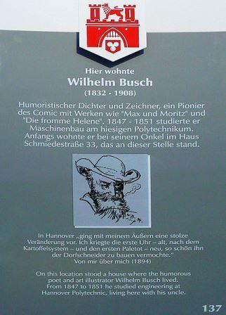 Bild Wilhelm Busch Wohnhaus Hannover